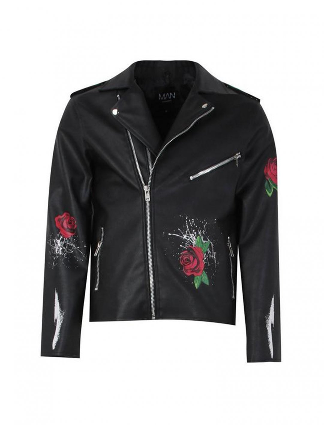 "Biker Jacket {""id"":5,""product_section_id"":1,""name"":""Clothing"",""order"":5} boohoo"