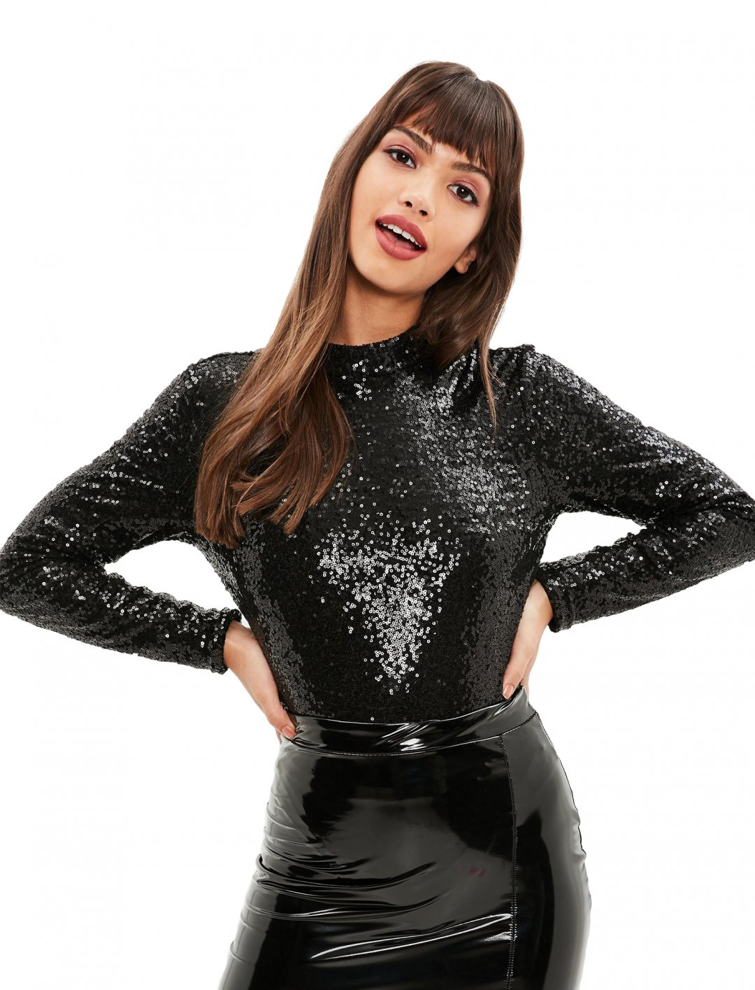 """Sequin Bodysuit {""""id"""":5,""""product_section_id"""":1,""""name"""":""""Clothing"""",""""order"""":5} Missguided"""