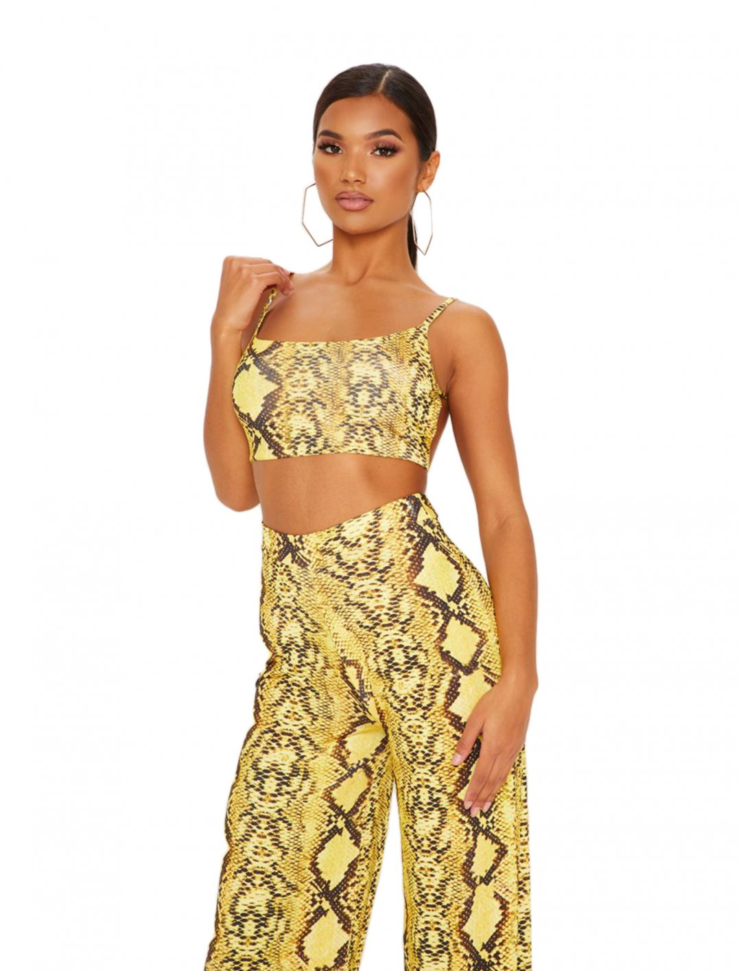"""Snake Printed Crop Top {""""id"""":5,""""product_section_id"""":1,""""name"""":""""Clothing"""",""""order"""":5} Pretty Little Thing"""