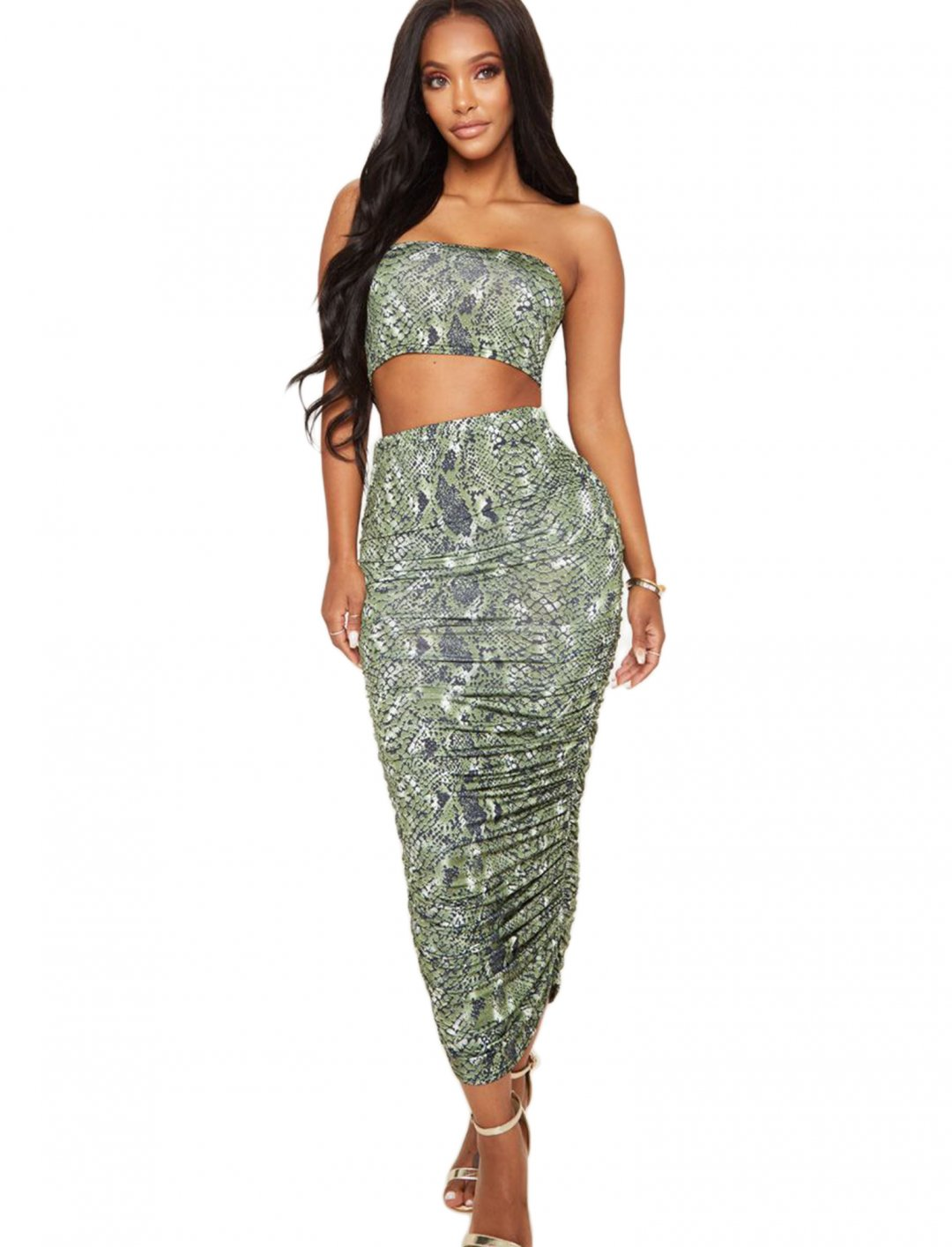 """Snake Skin Bandeau {""""id"""":5,""""product_section_id"""":1,""""name"""":""""Clothing"""",""""order"""":5} Pretty Little Thing"""