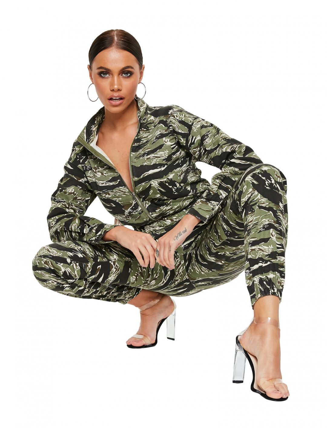 "Camo Utility Jacket {""id"":5,""product_section_id"":1,""name"":""Clothing"",""order"":5} Missguided"