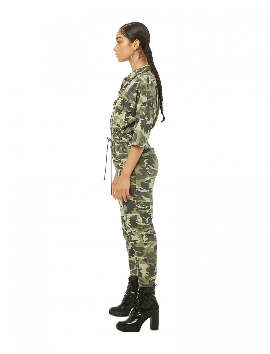 "Camo Utility Jumpsuit {""id"":5,""product_section_id"":1,""name"":""Clothing"",""order"":5} Forever 21"