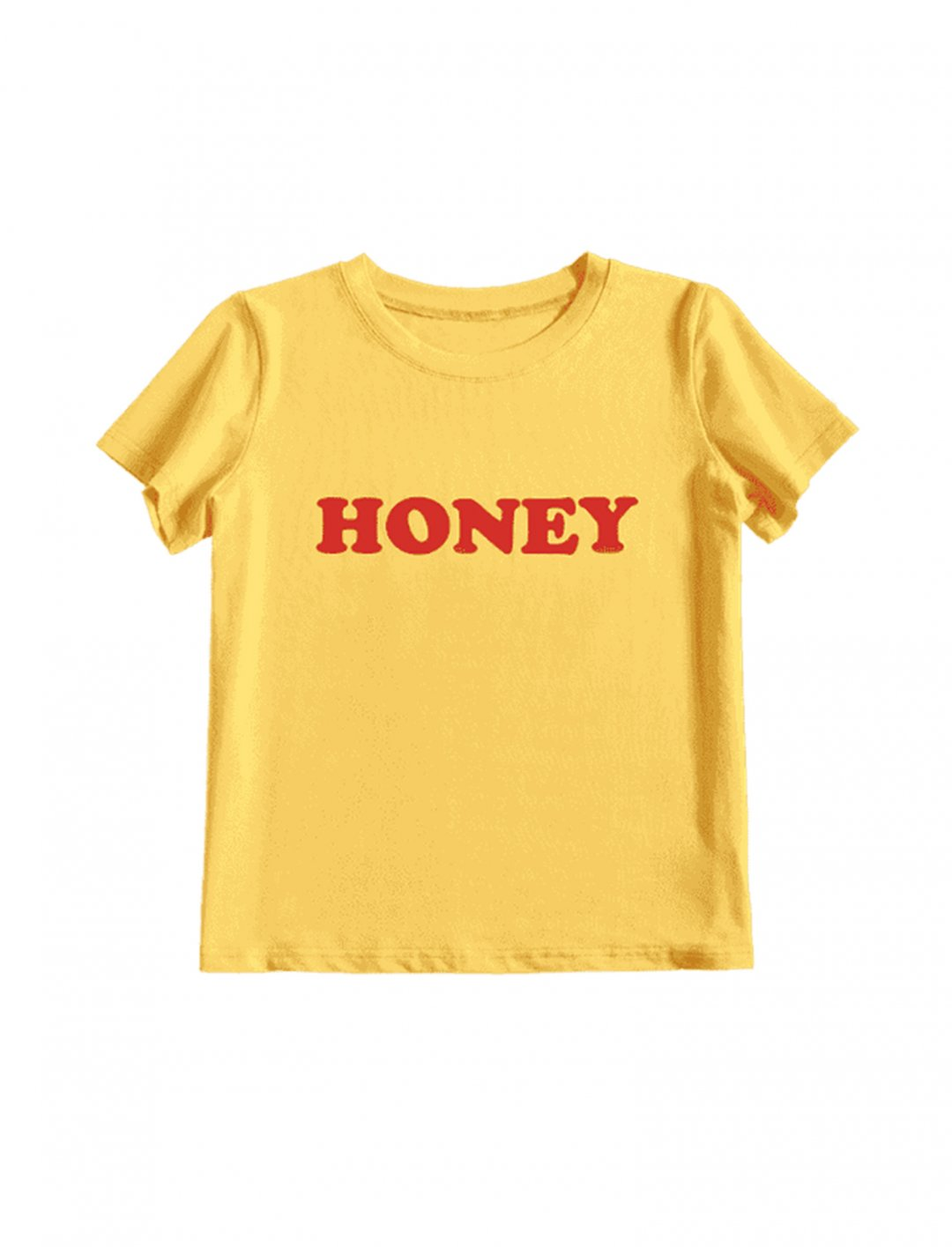 "'Honey' T-Shirt {""id"":5,""product_section_id"":1,""name"":""Clothing"",""order"":5} Zaful"