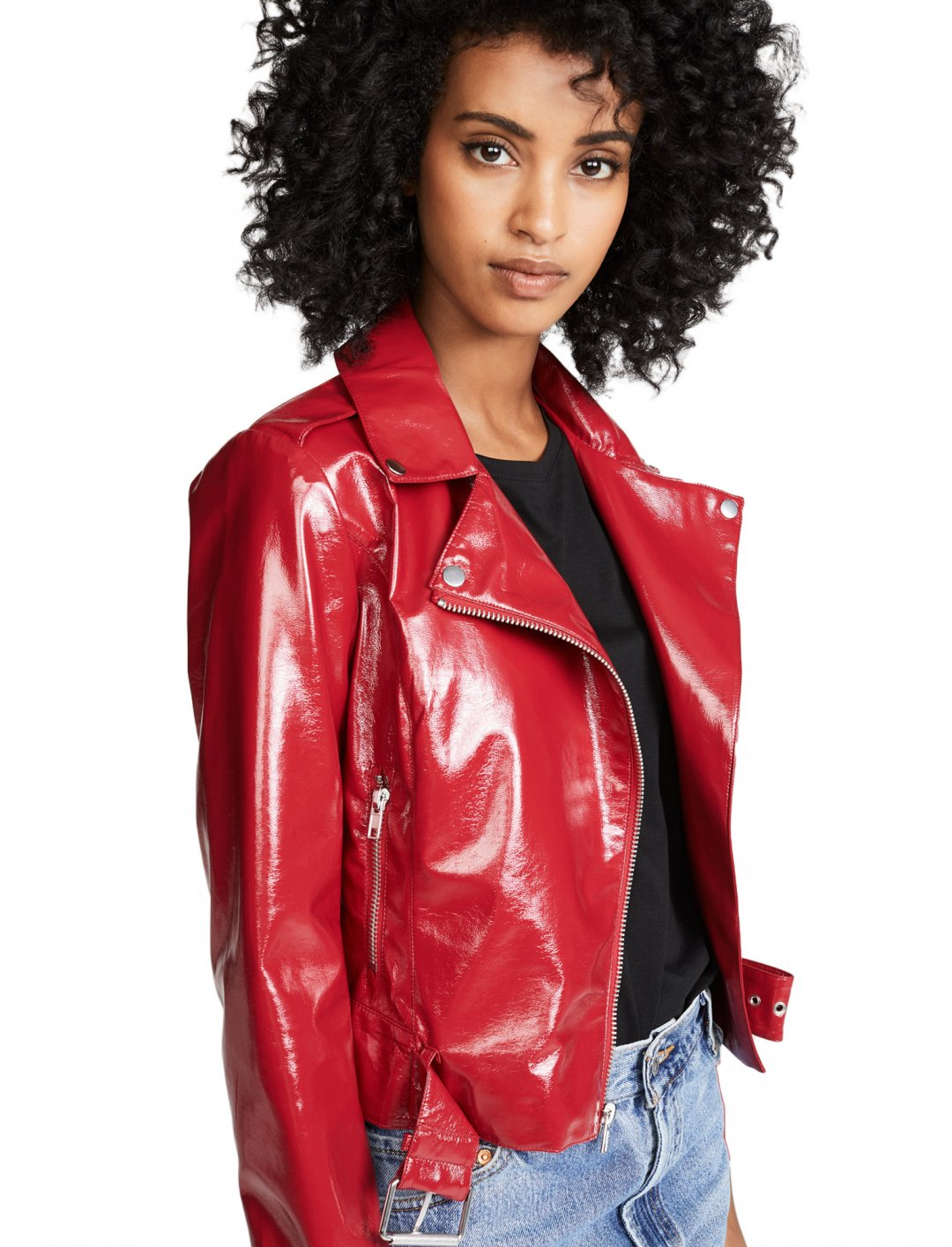 "Vinyl Moto Jacket {""id"":5,""product_section_id"":1,""name"":""Clothing"",""order"":5} BB Dakota"