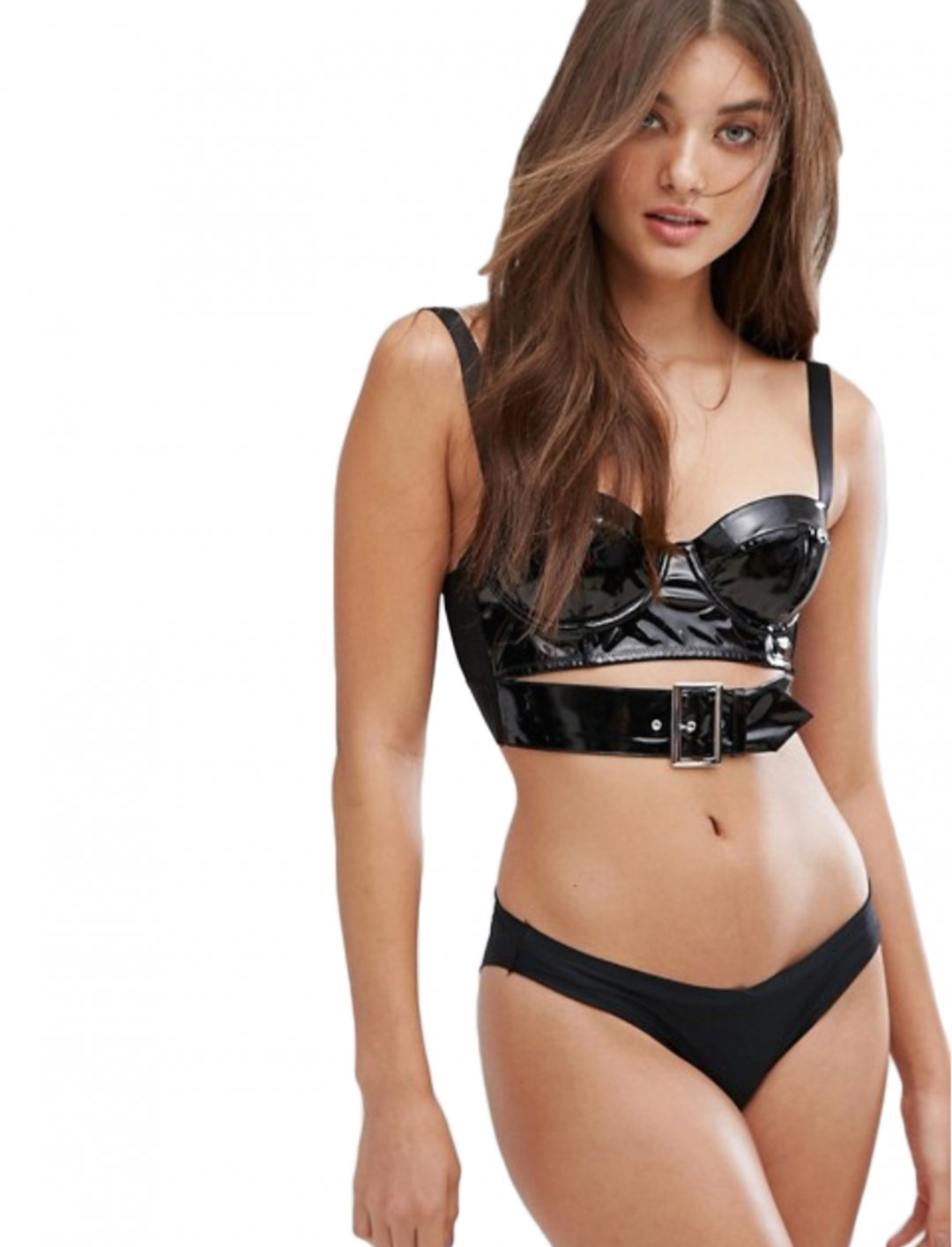 "Vinyl Padded Bralet {""id"":5,""product_section_id"":1,""name"":""Clothing"",""order"":5} ASOS DESIGN"