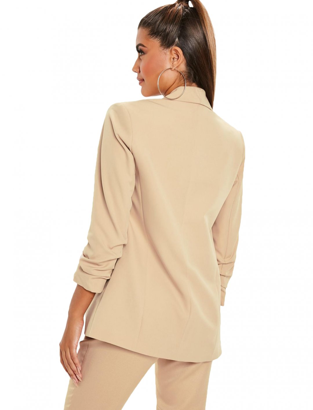 "Blazer In Nude {""id"":5,""product_section_id"":1,""name"":""Clothing"",""order"":5} Missguided"