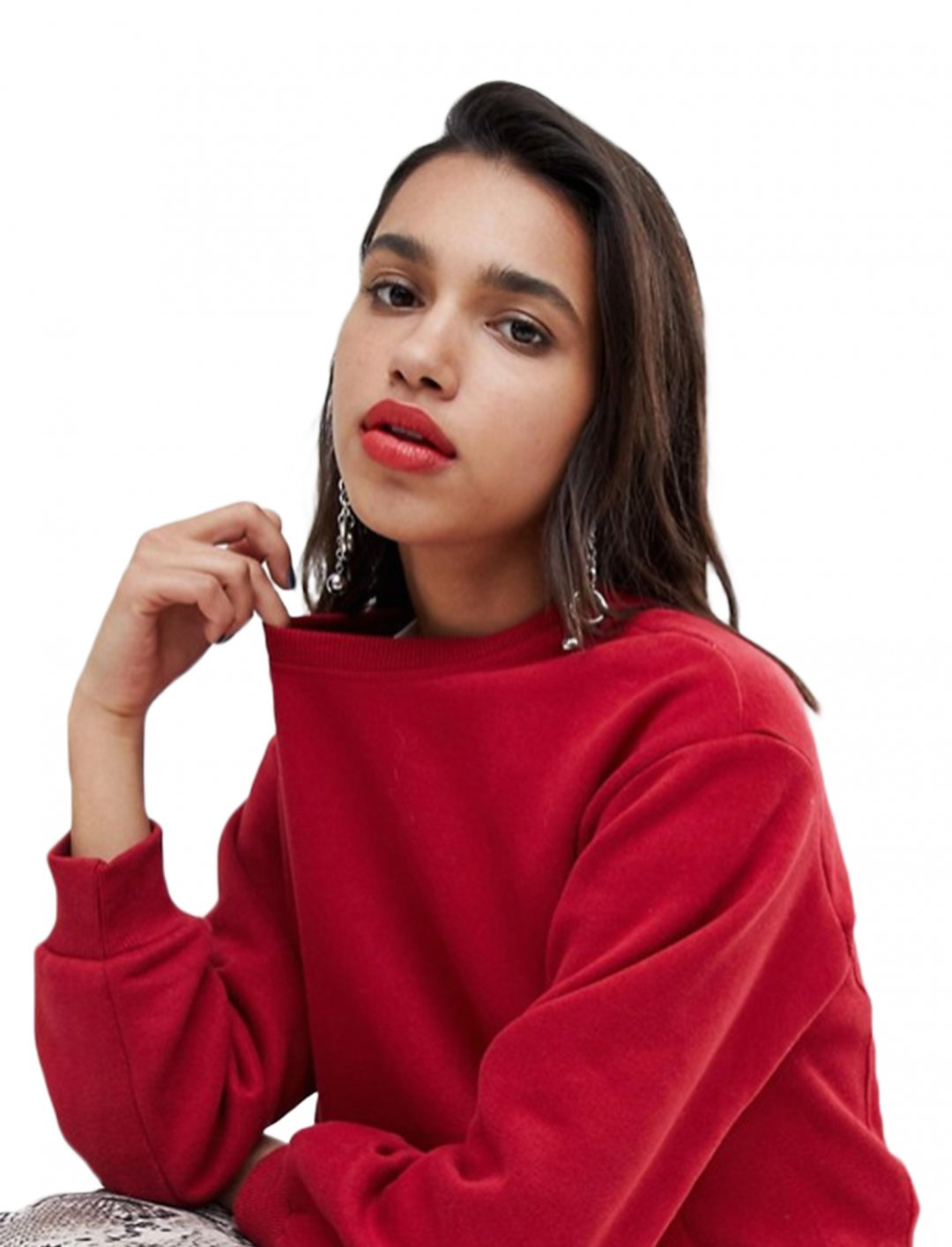 "Cropped Sweatshirt {""id"":5,""product_section_id"":1,""name"":""Clothing"",""order"":5} Stradivarius"