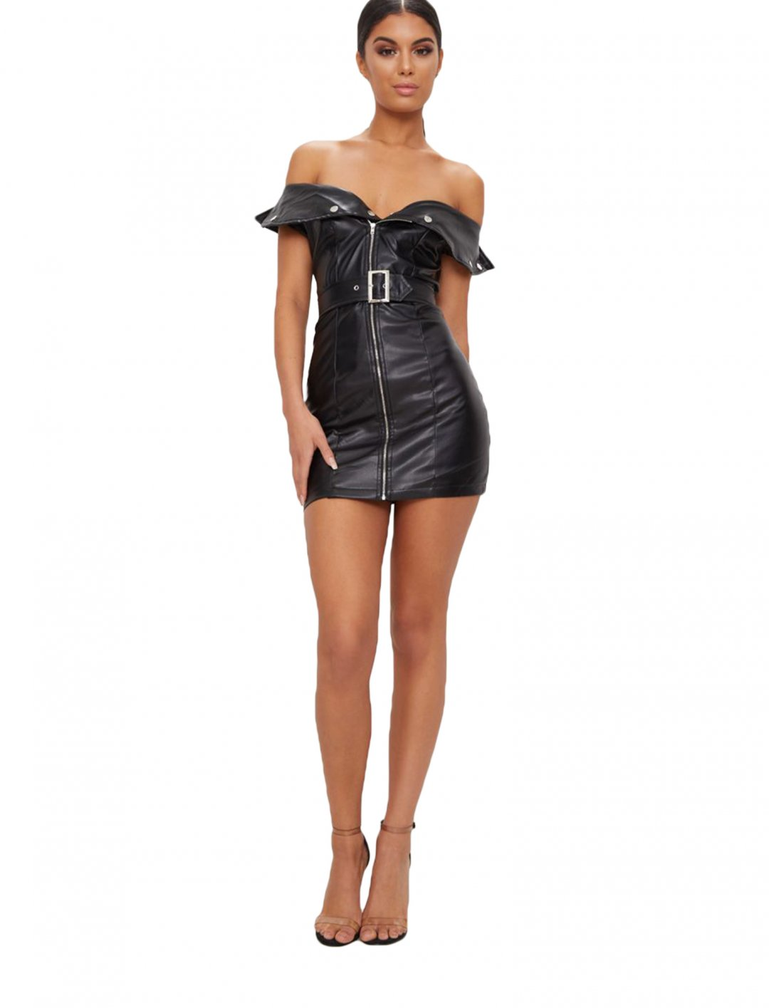 "Leather Mini Dress {""id"":5,""product_section_id"":1,""name"":""Clothing"",""order"":5} Pretty Little Thing"