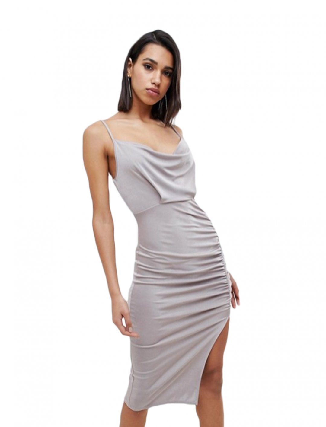 "Ruched Midi Dress {""id"":5,""product_section_id"":1,""name"":""Clothing"",""order"":5} ASOS DESIGN"