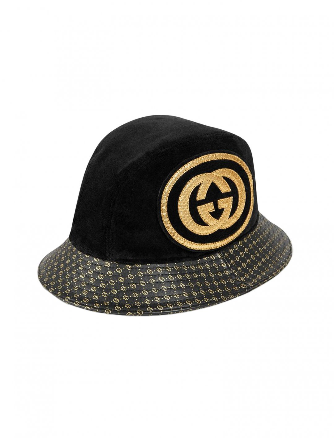 "French Montana's Leather Hat {""id"":16,""product_section_id"":1,""name"":""Accessories"",""order"":15} Gucci-Dapper Dan"