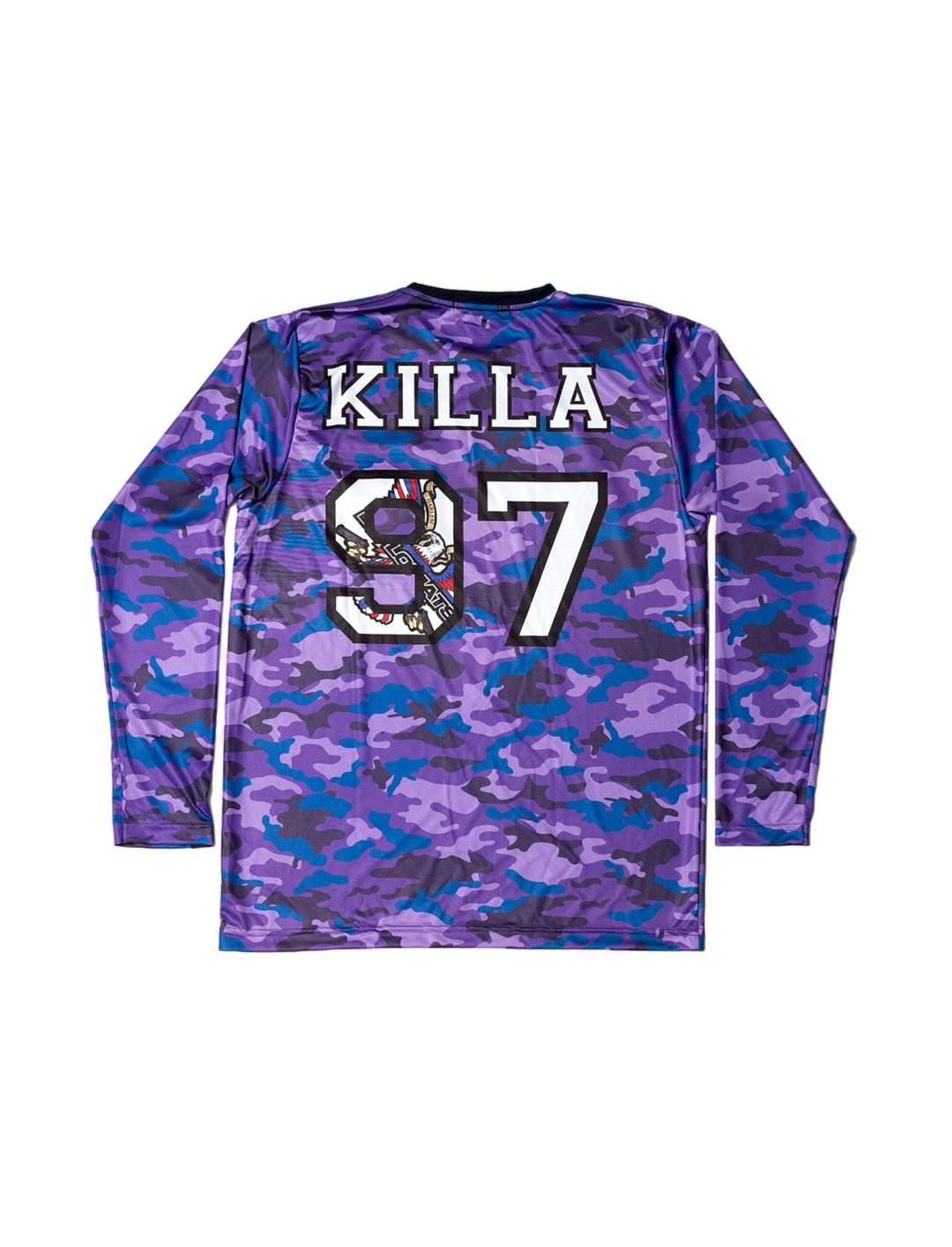 "Long Sleeve Jersey In Camo {""id"":5,""product_section_id"":1,""name"":""Clothing"",""order"":5} Dipset Couture"