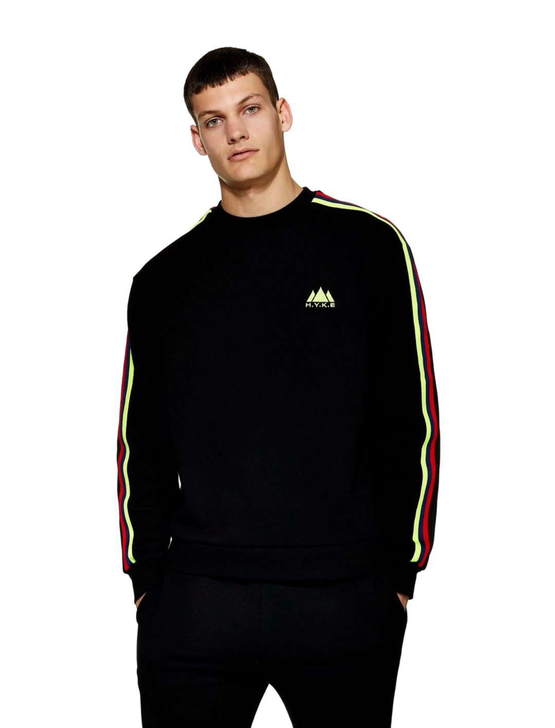 "Tape Sweatshirt {""id"":5,""product_section_id"":1,""name"":""Clothing"",""order"":5} Topman"