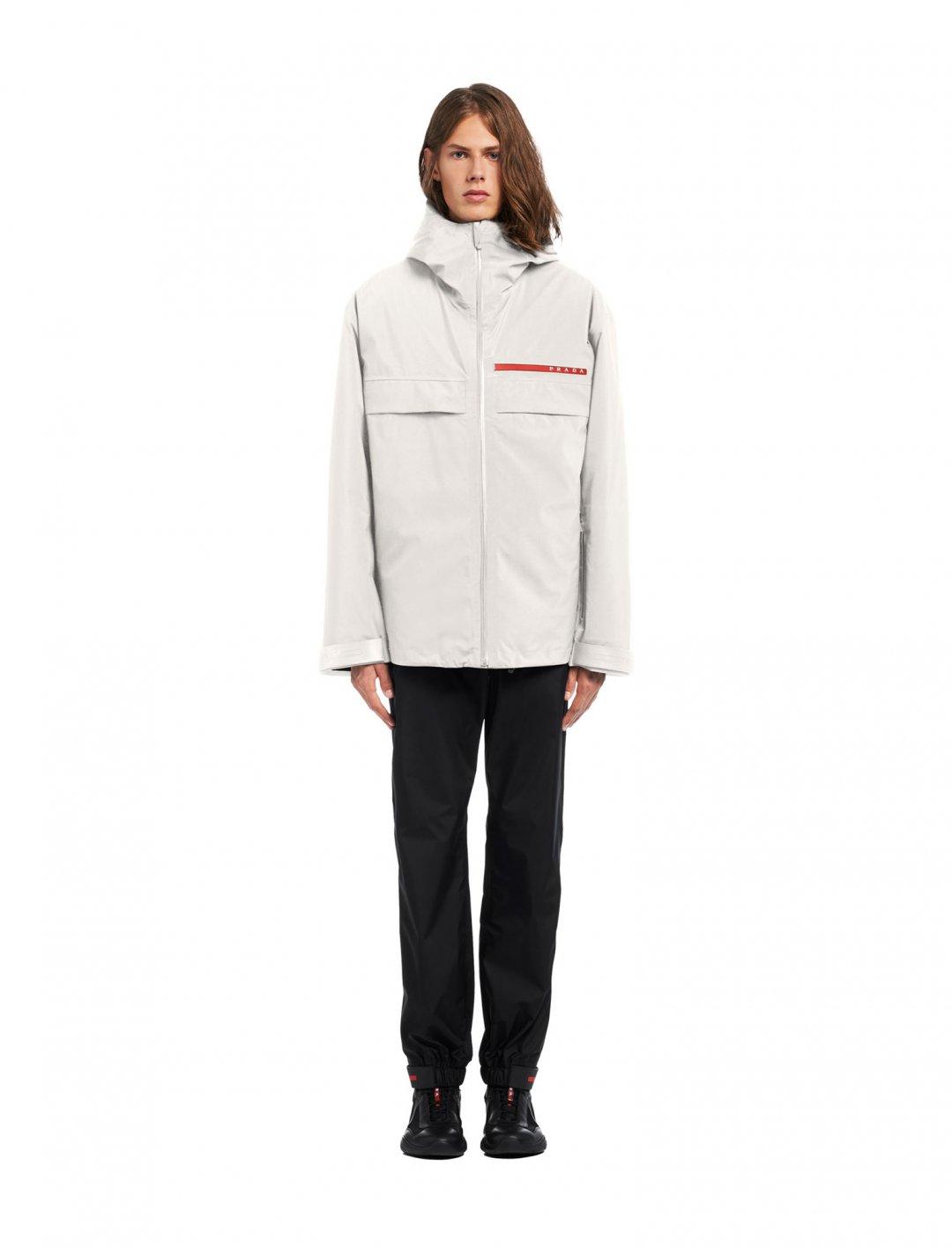 "Gashi's Jacket In White {""id"":5,""product_section_id"":1,""name"":""Clothing"",""order"":5} Prada"