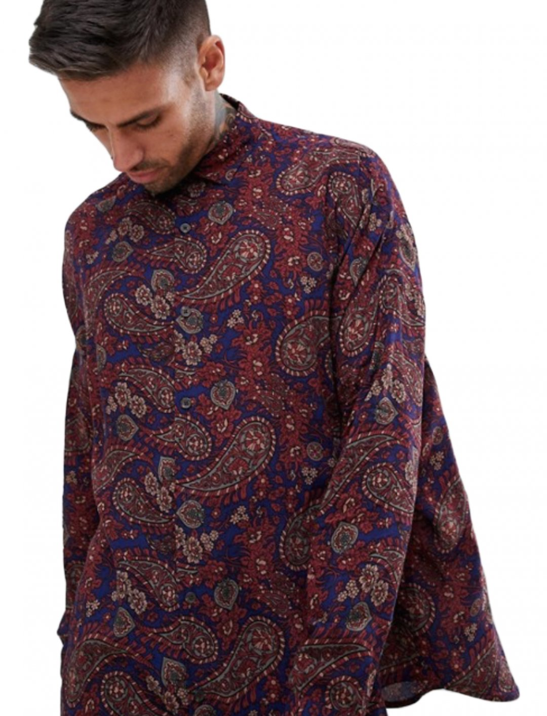 """Paisley Shirt {""""id"""":5,""""product_section_id"""":1,""""name"""":""""Clothing"""",""""order"""":5} ASOS DESIGN"""