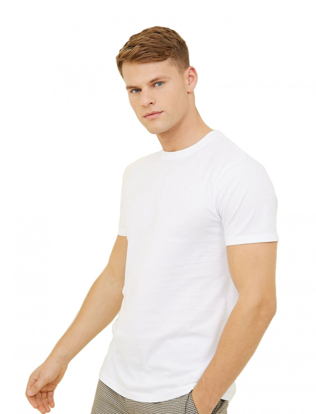 "T-Shirt In White {""id"":5,""product_section_id"":1,""name"":""Clothing"",""order"":5} New Look"