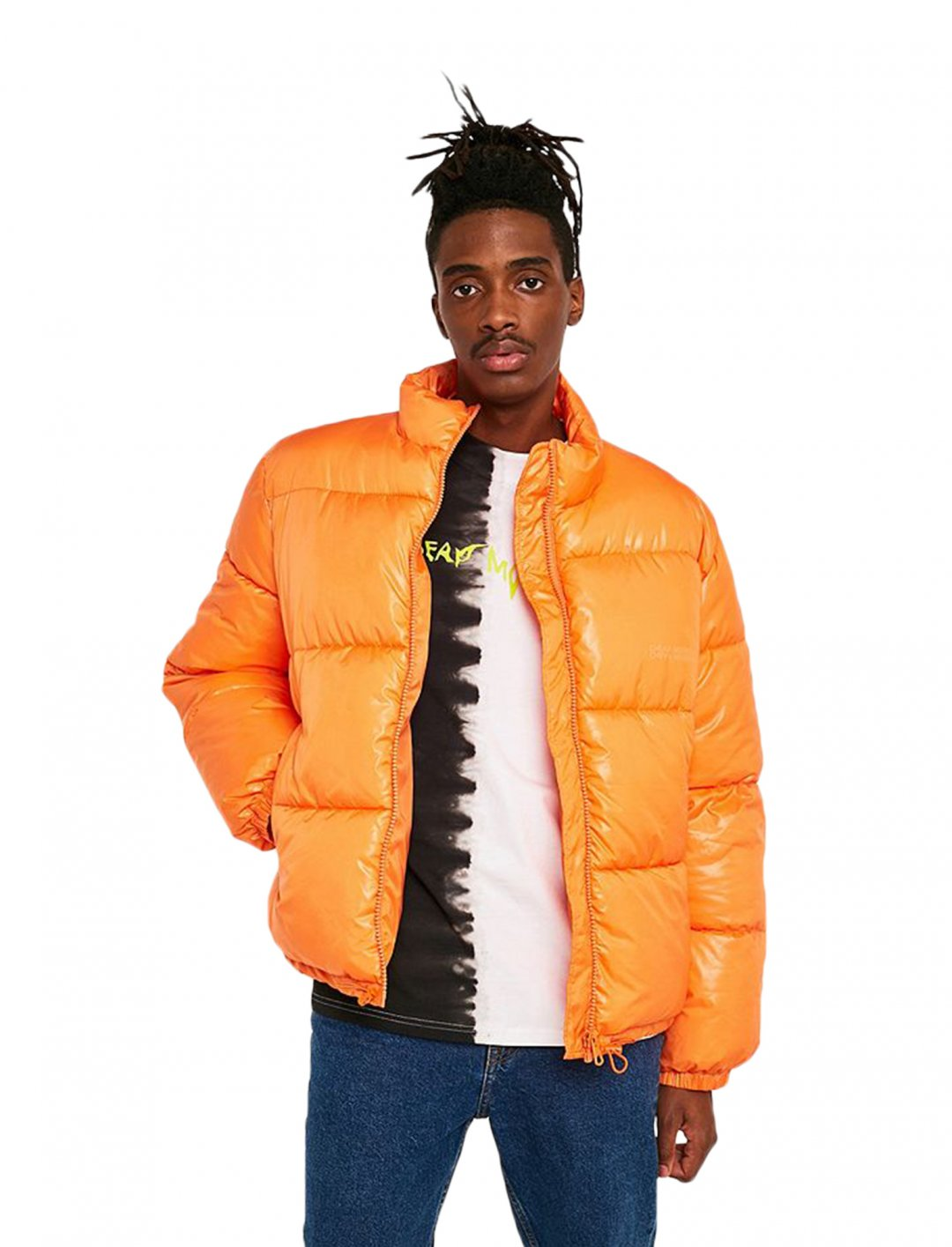 "HEX' Puffer Jacket In Orange {""id"":5,""product_section_id"":1,""name"":""Clothing"",""order"":5} Cheap Monday"