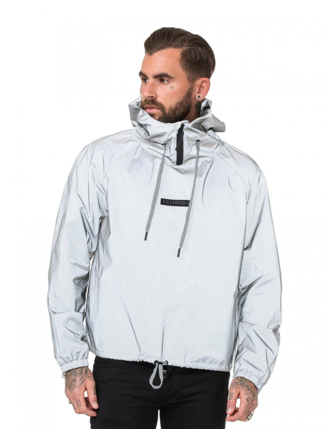 """HEX' Reflective Bomber {""""id"""":5,""""product_section_id"""":1,""""name"""":""""Clothing"""",""""order"""":5} Religion"""