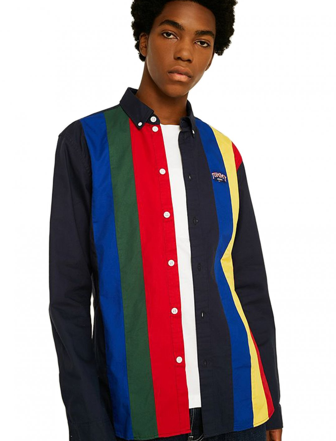 """Colour Block Shirt {""""id"""":5,""""product_section_id"""":1,""""name"""":""""Clothing"""",""""order"""":5} Tommy Jeans"""