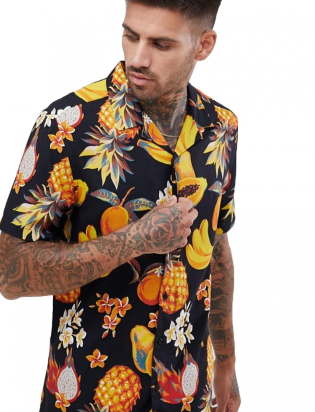 "Fruit Print Shirt {""id"":5,""product_section_id"":1,""name"":""Clothing"",""order"":5} ASOS DESIGN"