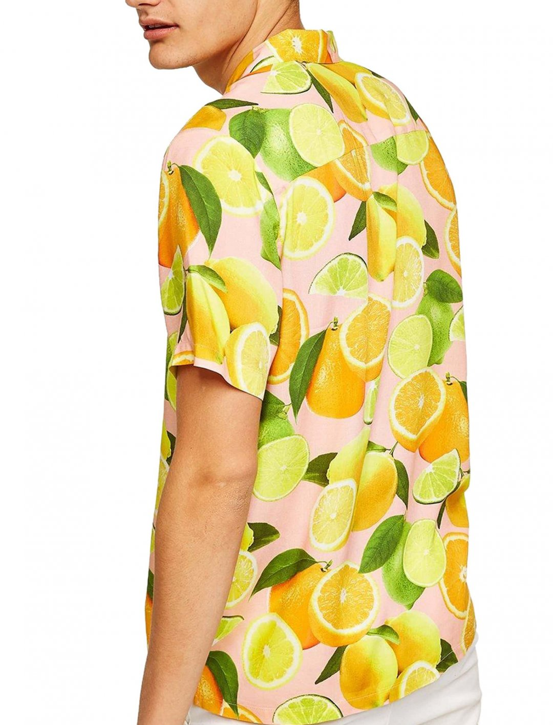 "Lauren Sanderson's Lemon Print Shirt {""id"":15,""product_section_id"":1,""name"":""Other"",""order"":0} Topman"