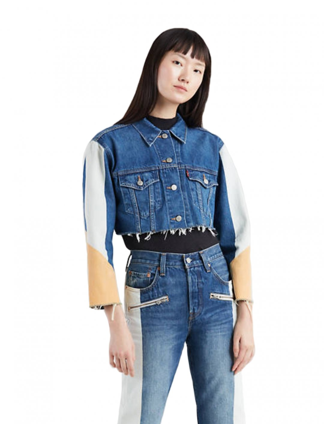 Mahalia's Cropped Denim Jacket Clothing Levi's