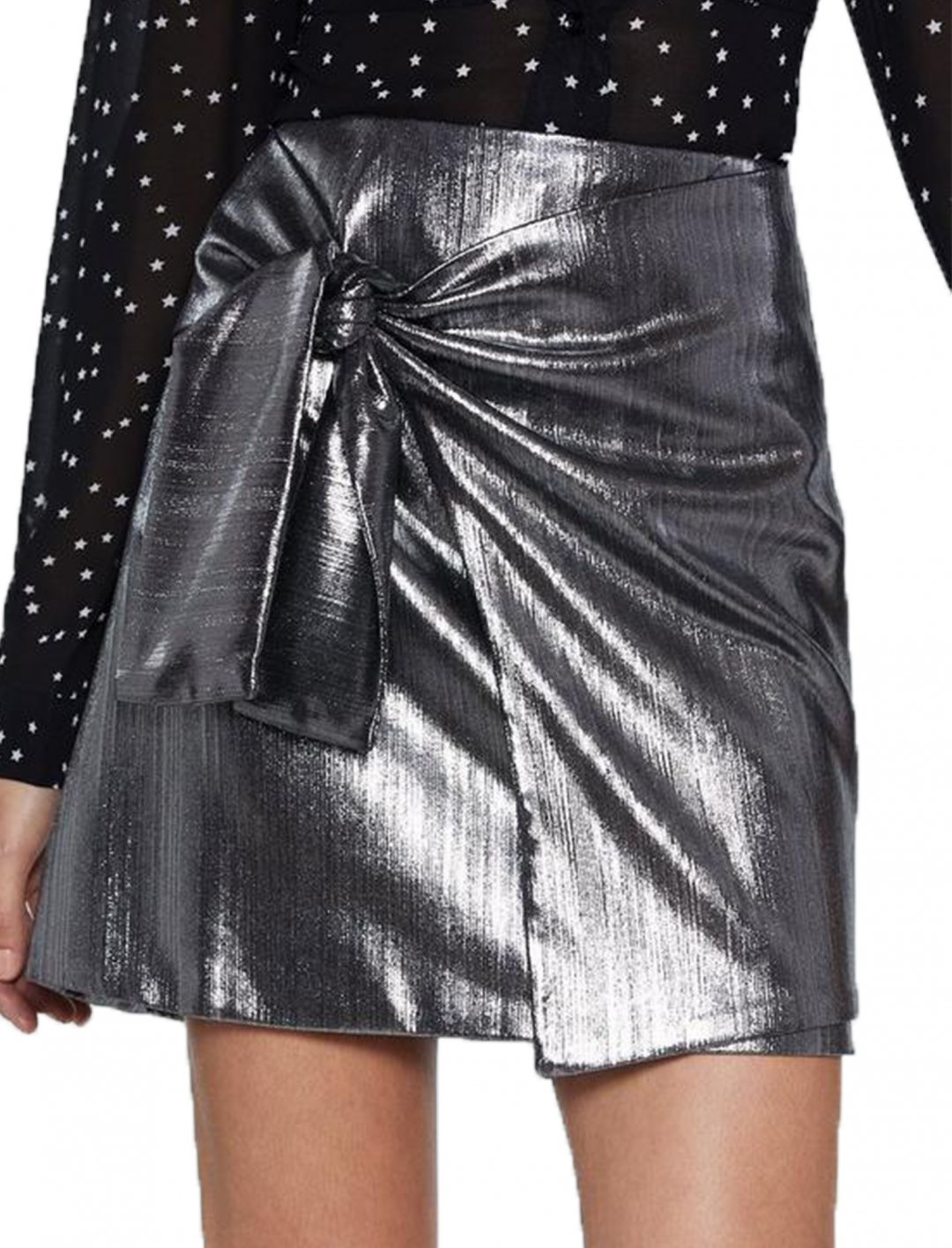 "Metallic Skirt {""id"":5,""product_section_id"":1,""name"":""Clothing"",""order"":5} Nasty Gal"