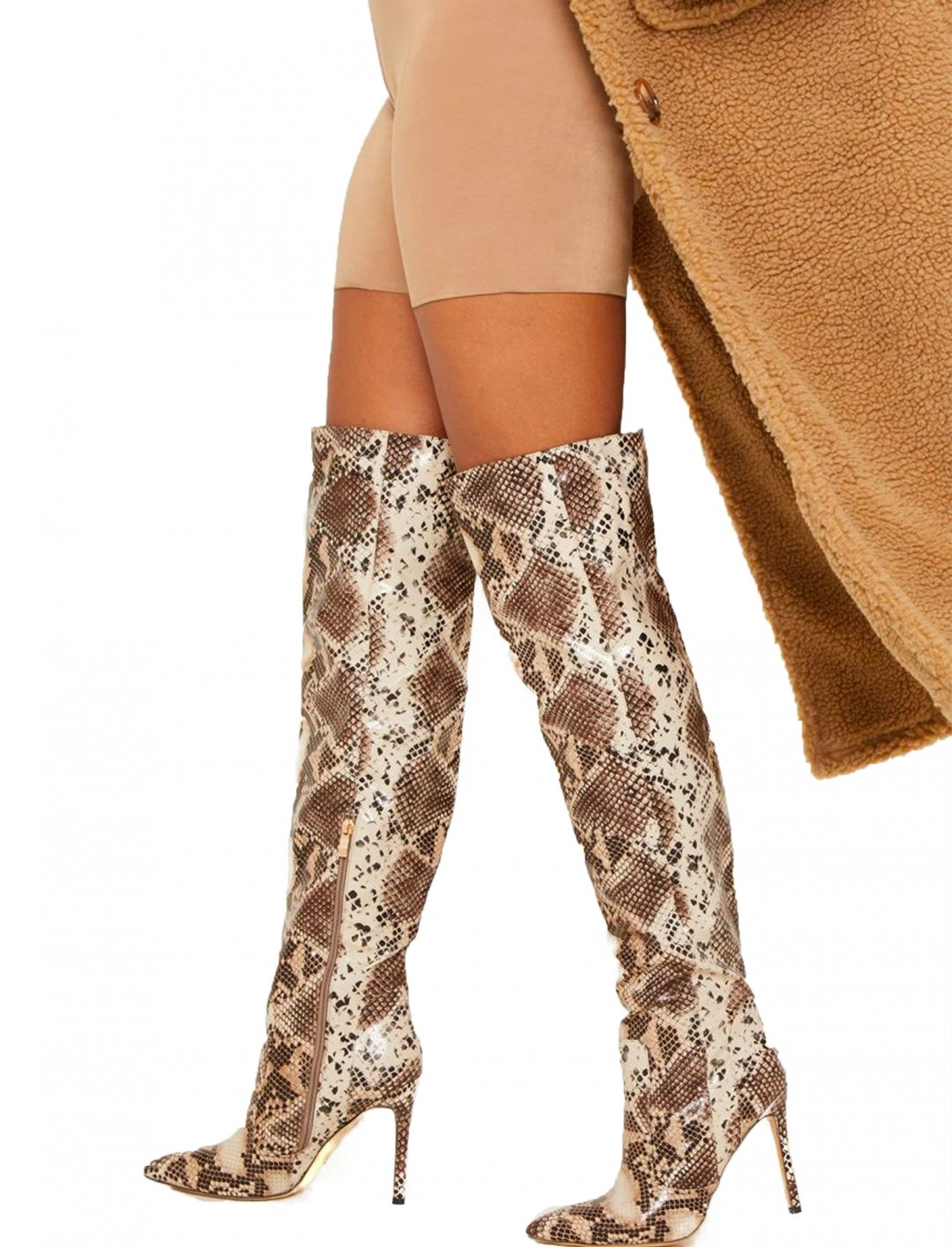 """Snake Knee Boots {""""id"""":12,""""product_section_id"""":1,""""name"""":""""Shoes"""",""""order"""":12} Pretty Little Thing"""