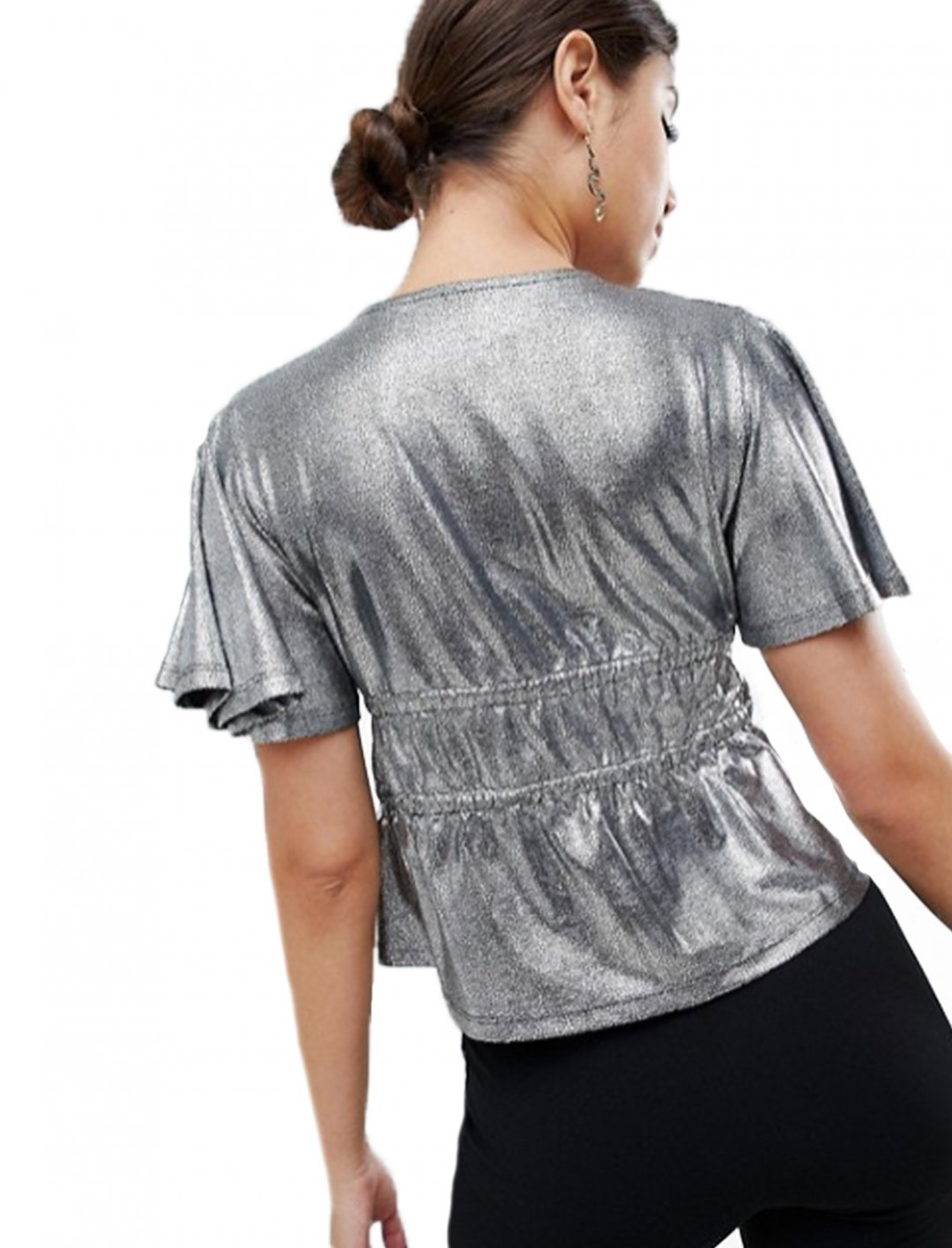 "Top In Metallic {""id"":5,""product_section_id"":1,""name"":""Clothing"",""order"":5} ASOS DESIGN"
