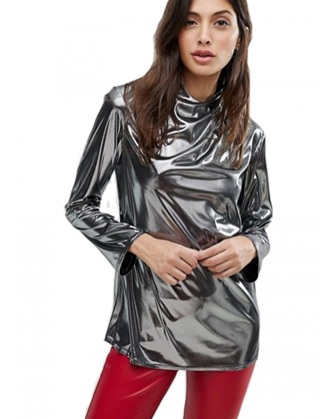 "Top In Metallic {""id"":5,""product_section_id"":1,""name"":""Clothing"",""order"":5} Reclaimed Vintage"