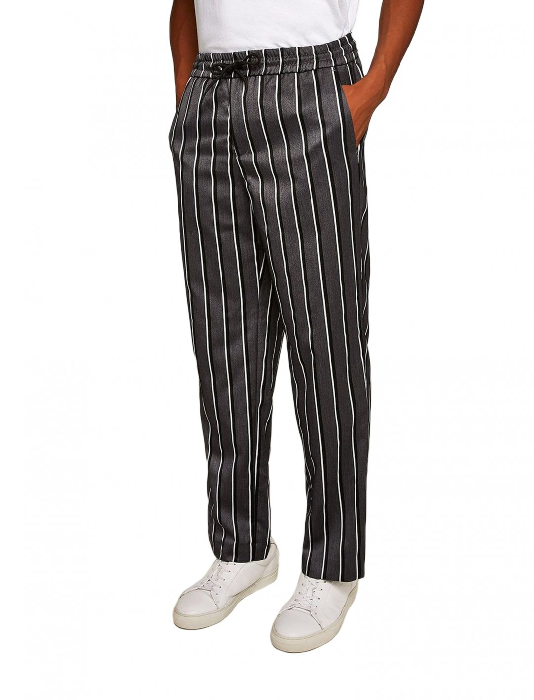 """Grey Stripe Joggers {""""id"""":5,""""product_section_id"""":1,""""name"""":""""Clothing"""",""""order"""":5} Topman"""