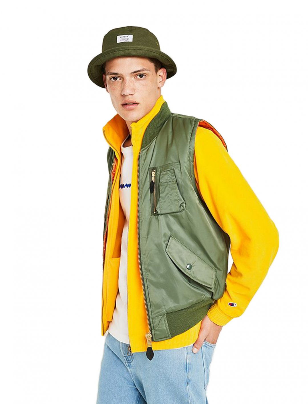 "Khaki Vest {""id"":5,""product_section_id"":1,""name"":""Clothing"",""order"":5} Urban Renewal"