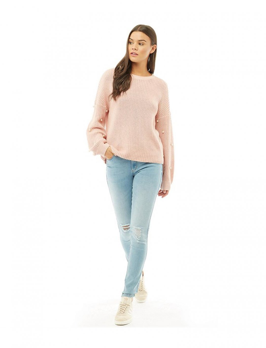 """Pearl Detail Jumper {""""id"""":5,""""product_section_id"""":1,""""name"""":""""Clothing"""",""""order"""":5} ONLY"""