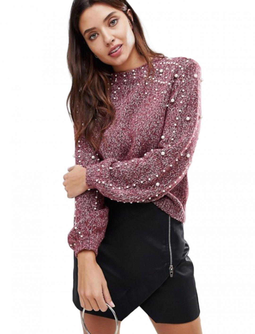 "Pearl Detail Sweater {""id"":5,""product_section_id"":1,""name"":""Clothing"",""order"":5} BLANK NYC"