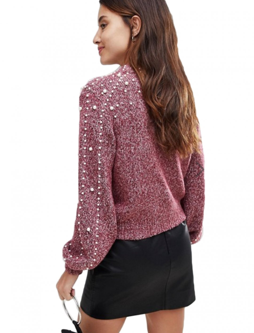 """Pearl Detail Sweater {""""id"""":5,""""product_section_id"""":1,""""name"""":""""Clothing"""",""""order"""":5} BLANK NYC"""