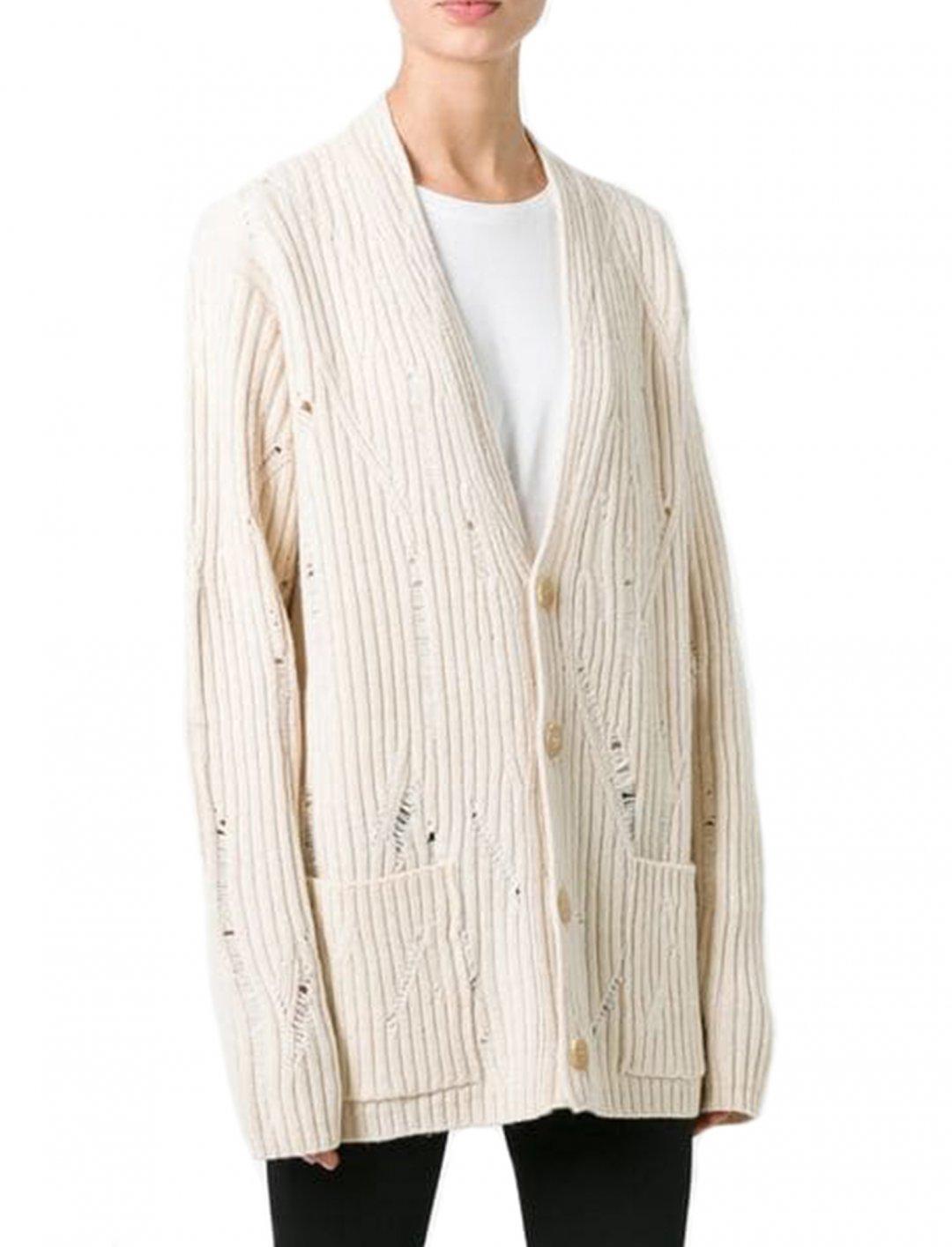 """Ribbed Cardigan {""""id"""":5,""""product_section_id"""":1,""""name"""":""""Clothing"""",""""order"""":5} Maison Margiela"""