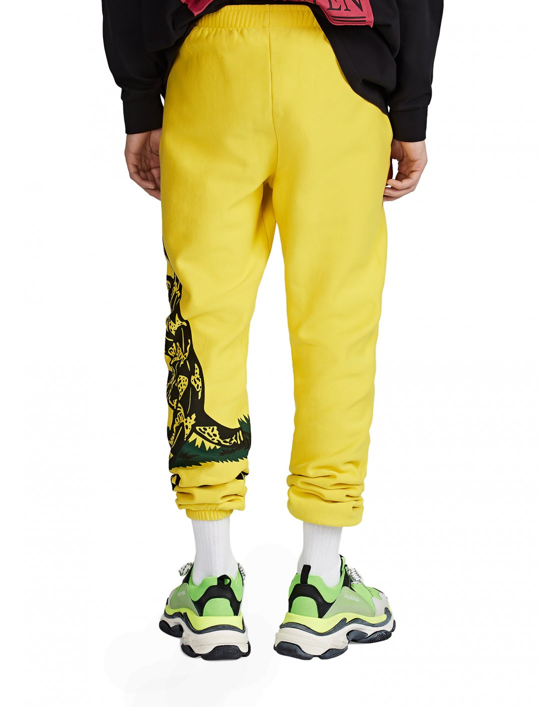 Yellow Cotton Sweatpants Clothing Vetements
