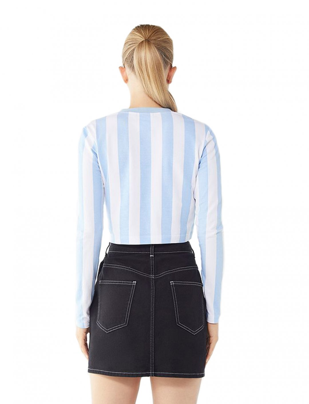 """Meghan Trainor's Striped Tee {""""id"""":5,""""product_section_id"""":1,""""name"""":""""Clothing"""",""""order"""":5} FILA + Pierre Cardin"""