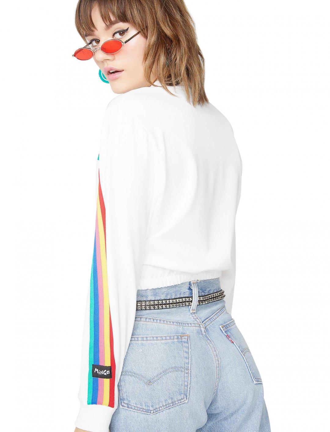 "Rainbow Stripe Top {""id"":5,""product_section_id"":1,""name"":""Clothing"",""order"":5} Minga"