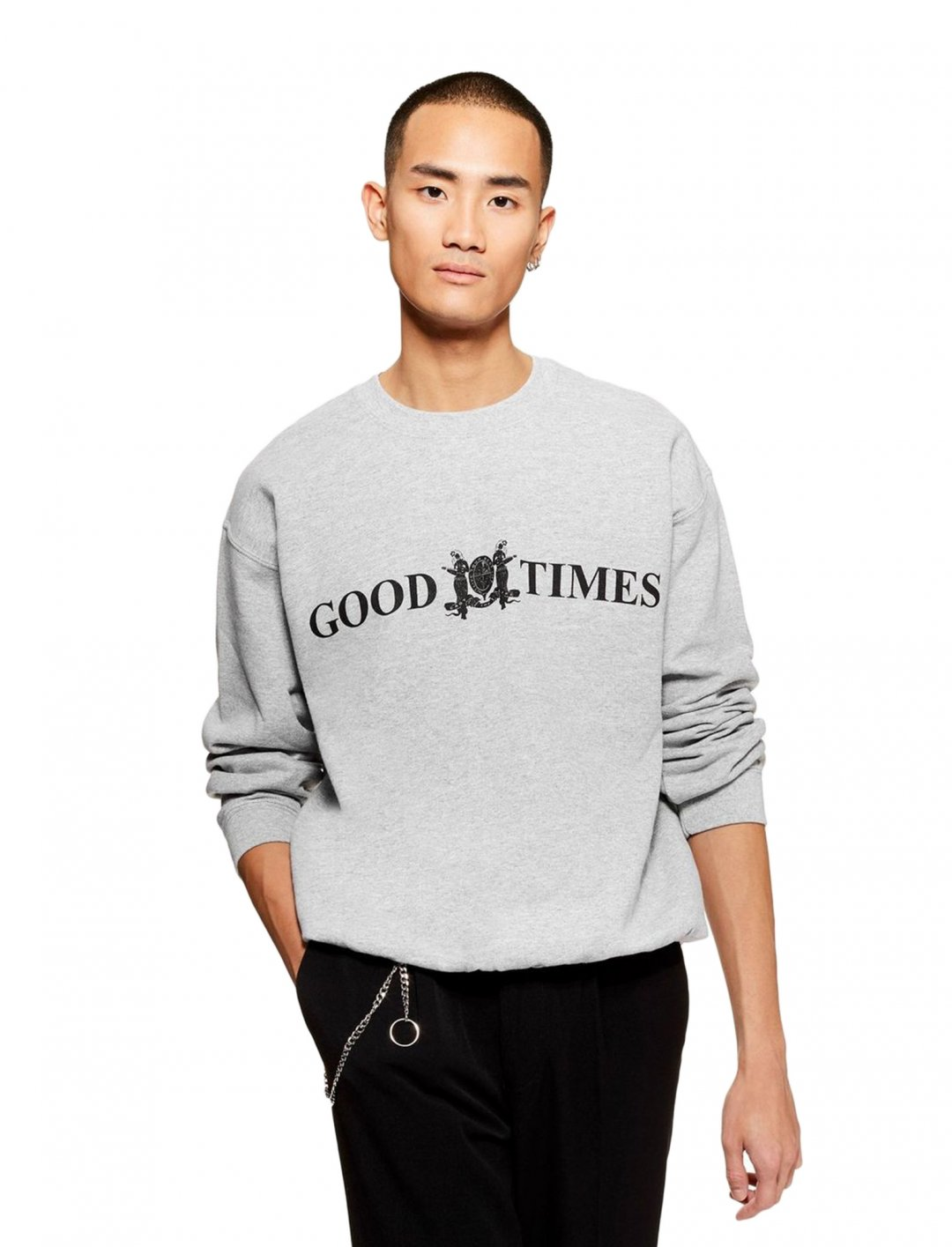 "Sweatshirt In Grey {""id"":5,""product_section_id"":1,""name"":""Clothing"",""order"":5} Topman"