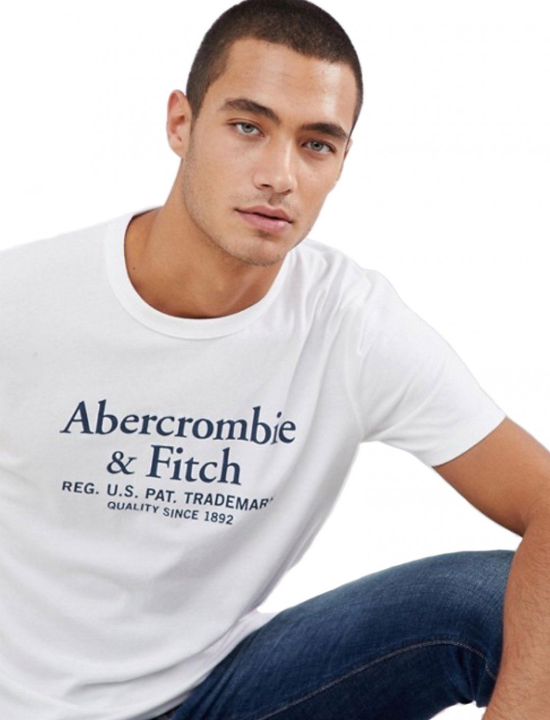"T-Shirt In White {""id"":5,""product_section_id"":1,""name"":""Clothing"",""order"":5} Abercrombie & Fitch"