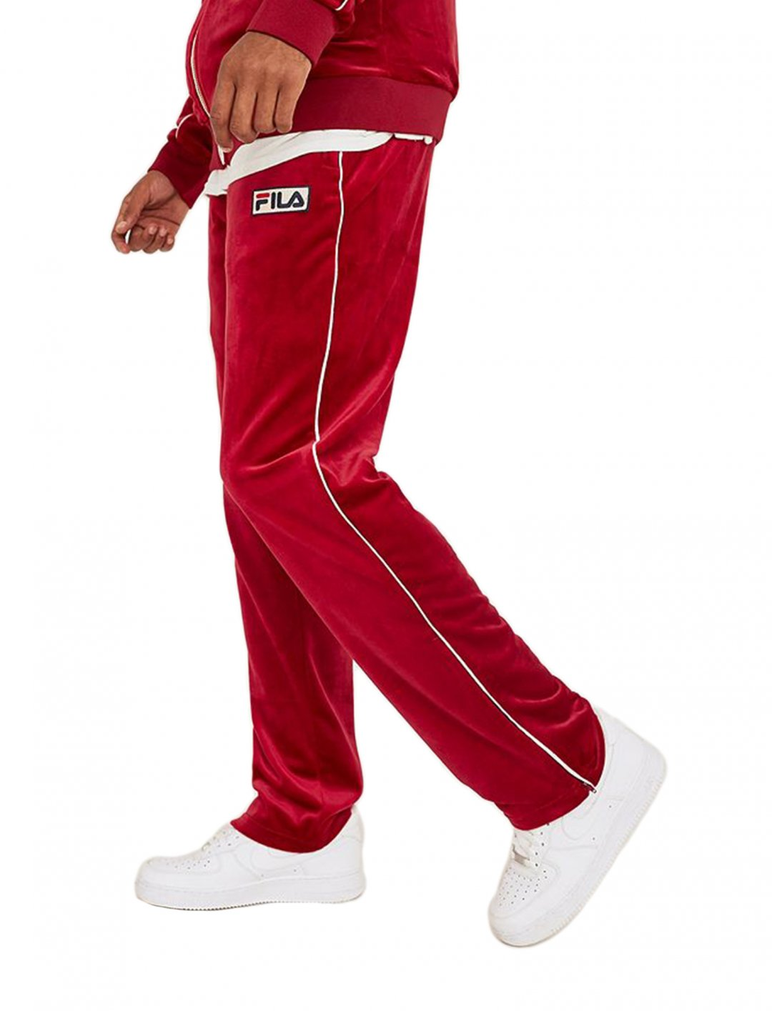 """Velour Track Pants {""""id"""":5,""""product_section_id"""":1,""""name"""":""""Clothing"""",""""order"""":5} FILA"""