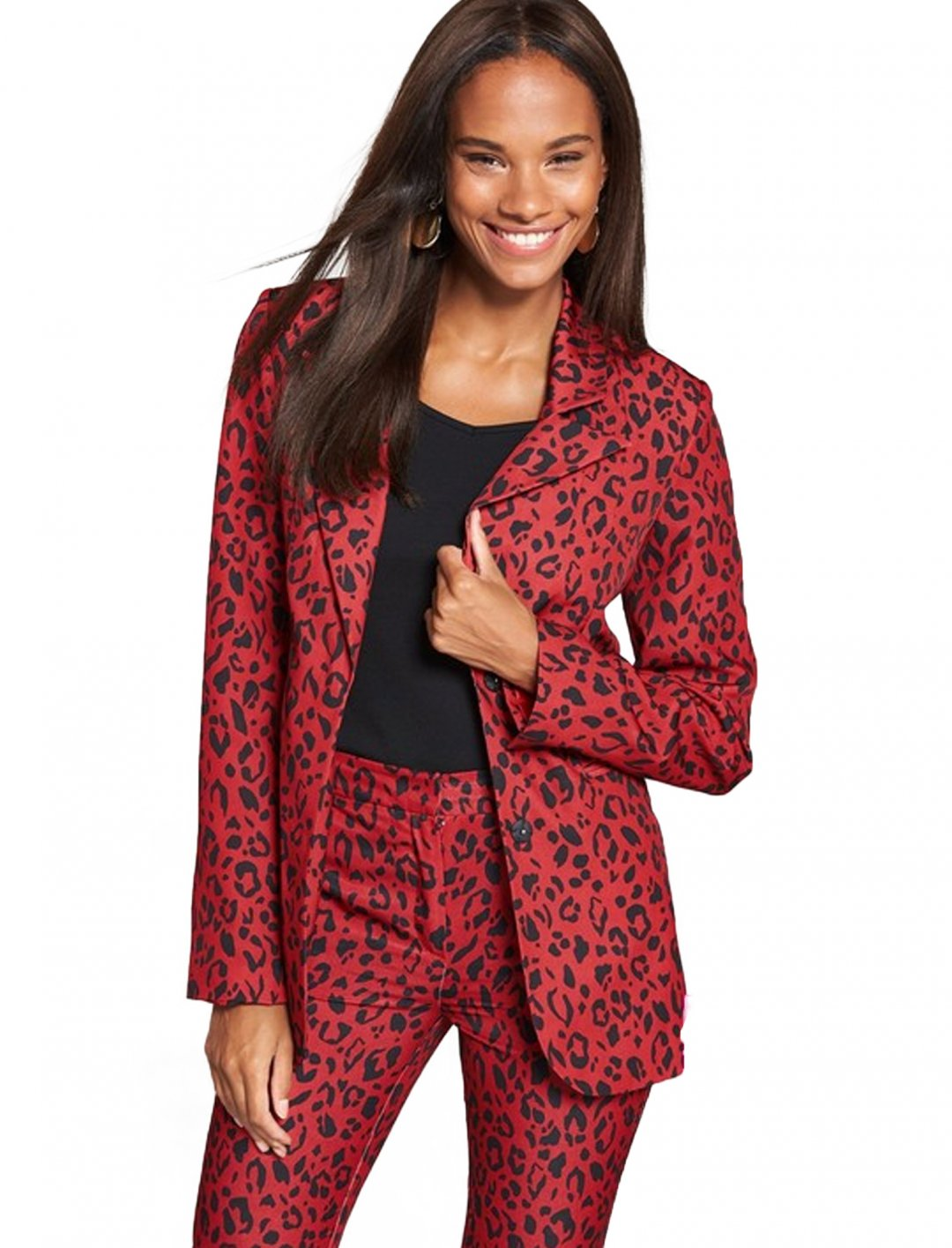 "Suit Jacket In Animal Print {""id"":5,""product_section_id"":1,""name"":""Clothing"",""order"":5} V by Very"