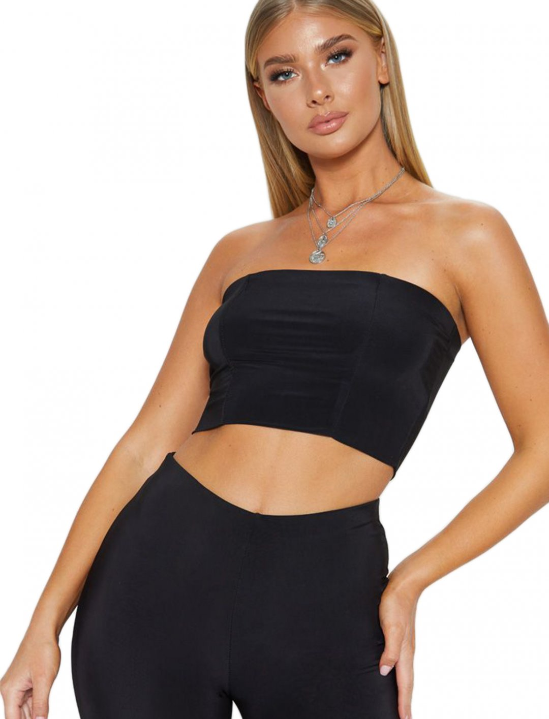 "Bandeau Crop Top {""id"":5,""product_section_id"":1,""name"":""Clothing"",""order"":5} Pretty Little Thing"