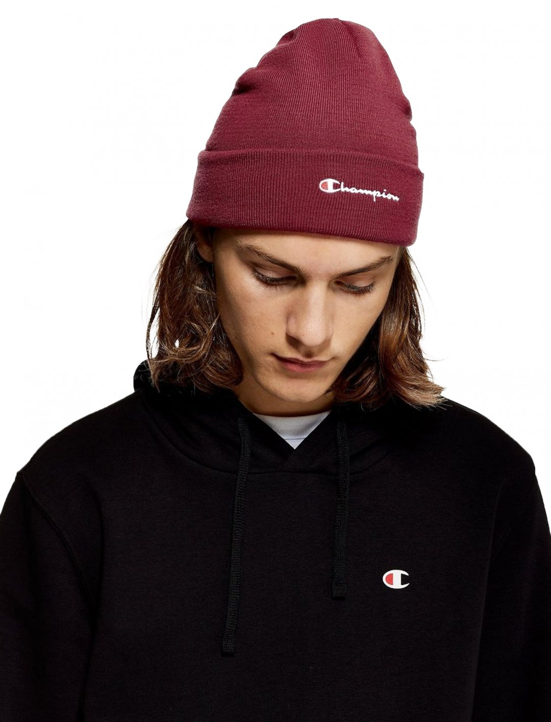 "Beanie In Burgundy {""id"":16,""product_section_id"":1,""name"":""Accessories"",""order"":15} Champion"