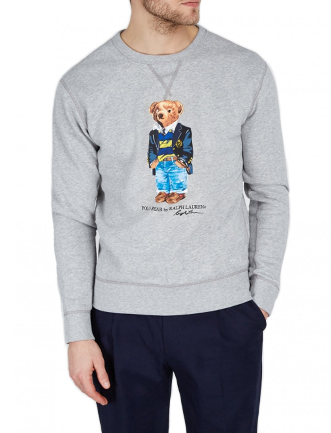 "Bear Print Sweatshirt {""id"":5,""product_section_id"":1,""name"":""Clothing"",""order"":5} Polo Ralph Lauren"