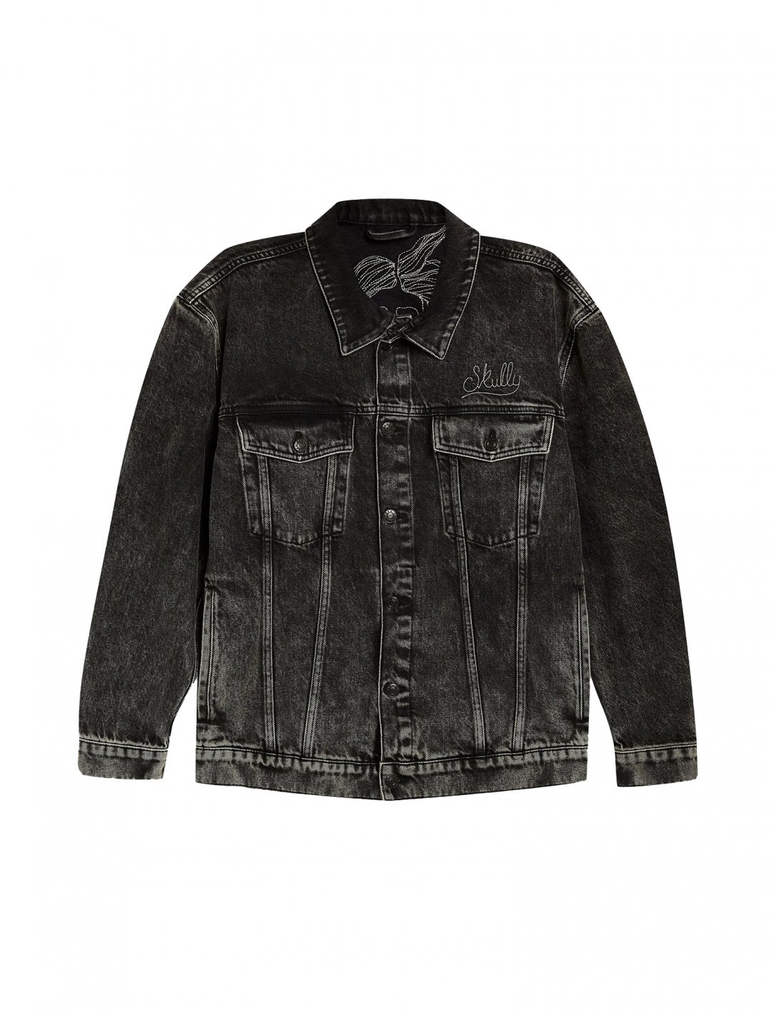 "Black Denim Jacket {""id"":5,""product_section_id"":1,""name"":""Clothing"",""order"":5} Topman"