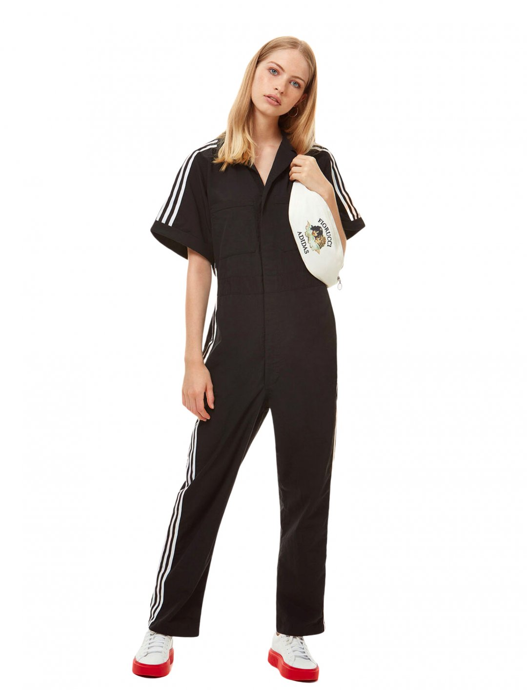 """Black Jumpsuit {""""id"""":5,""""product_section_id"""":1,""""name"""":""""Clothing"""",""""order"""":5} Adidas x Fiorucci"""