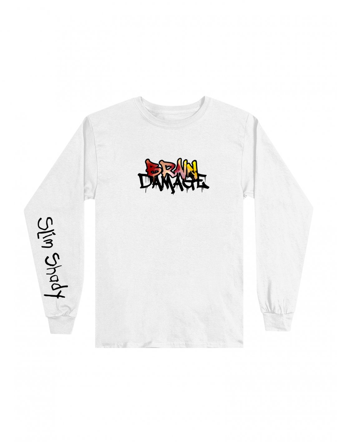 "Brain Damage Long Sleeve T-shirt {""id"":5,""product_section_id"":1,""name"":""Clothing"",""order"":5} Eminem"