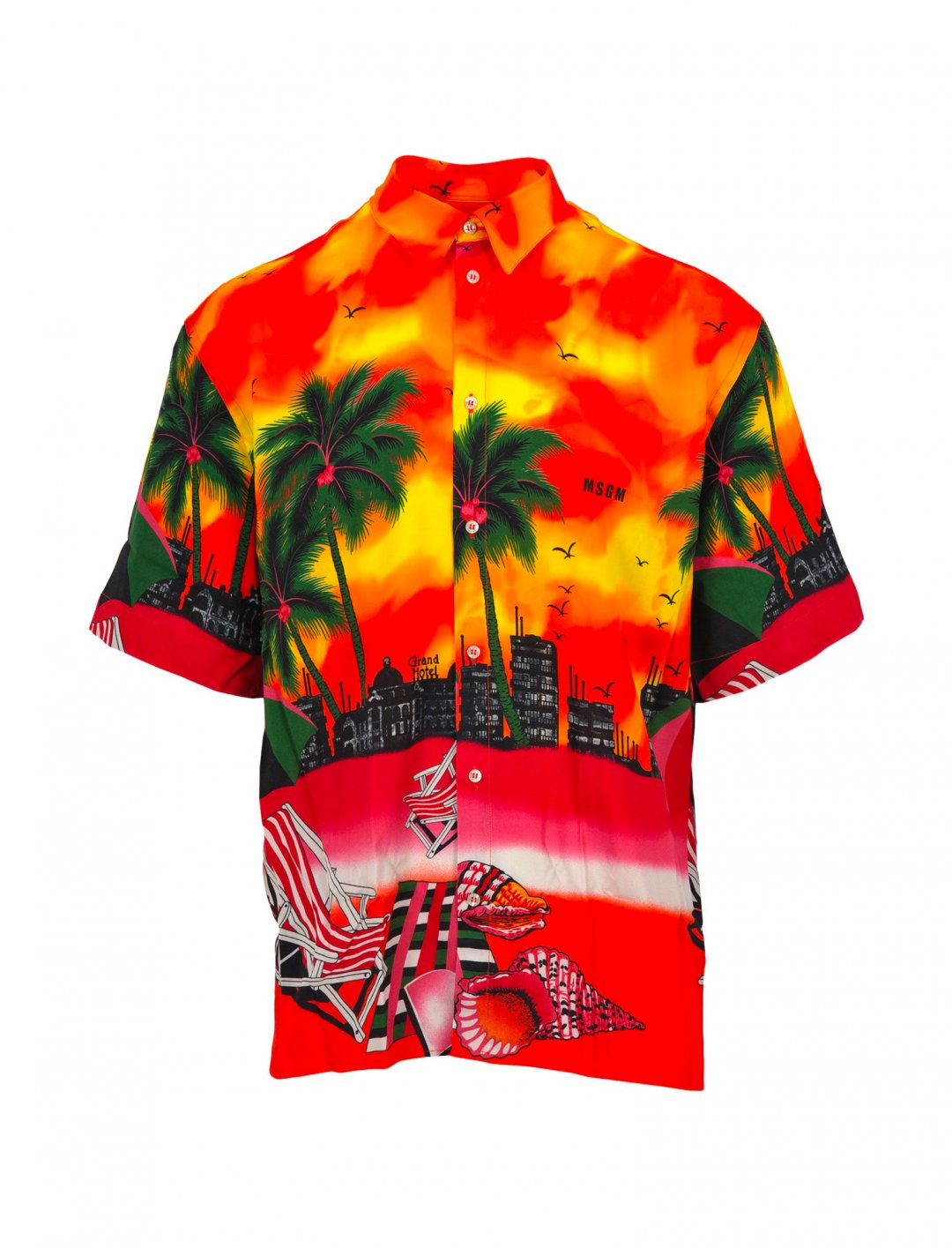 "California Print Shirt {""id"":5,""product_section_id"":1,""name"":""Clothing"",""order"":5} MSGM"