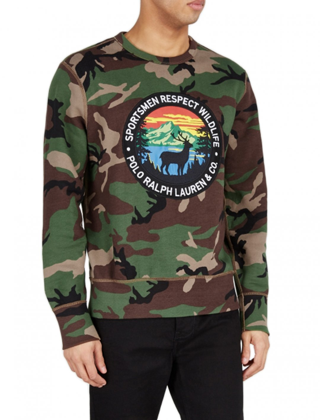 "Camo Sweatshirt {""id"":5,""product_section_id"":1,""name"":""Clothing"",""order"":5} Polo Ralph Lauren"